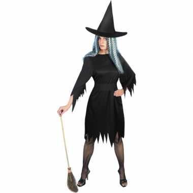 Carnavalskleding zwarte korte heksenjurk online