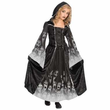 Carnavalskleding zwarte lange zombie jurk meiden online