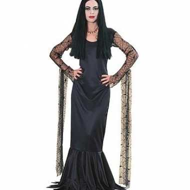 Carnavalskleding zwarte morticia jurk dames online