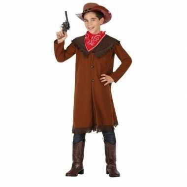 Cowboy john carnavalskleding bruin jongens online