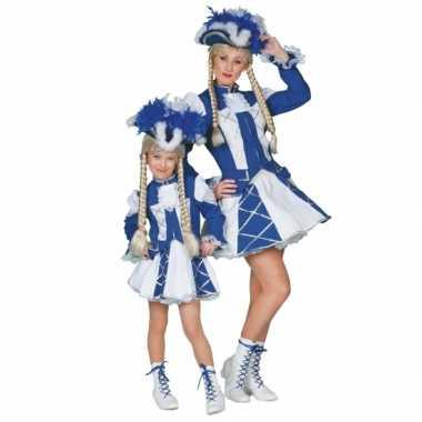 Dansmarieke carnavalskleding blauw meisjes online