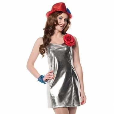 Disco carnavalskledings zilver dames online