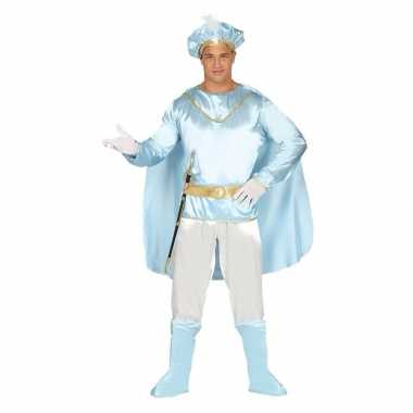 Droomprins carnavalskleding licht blauw volwassenen online