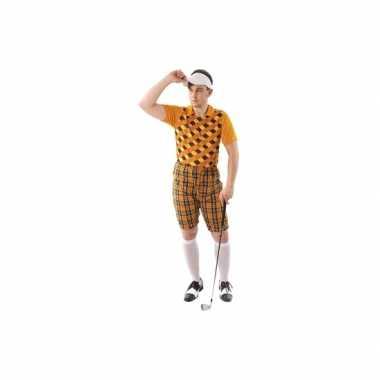 Golfers carnavalskleding oranje heren online