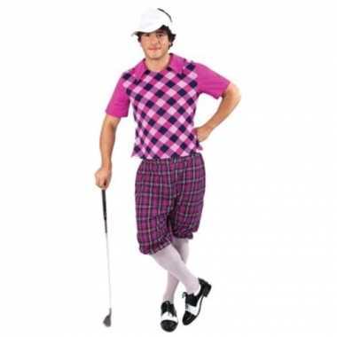 Golfers carnavalskleding paars heren online