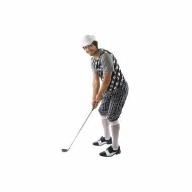Golfers carnavalskleding zwart wit heren online