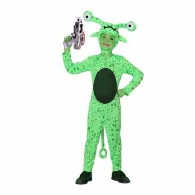 Groene alien carnavalskleding space gun maat online