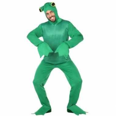 Groene kikker verkleed carnavalskleding dames/heren online