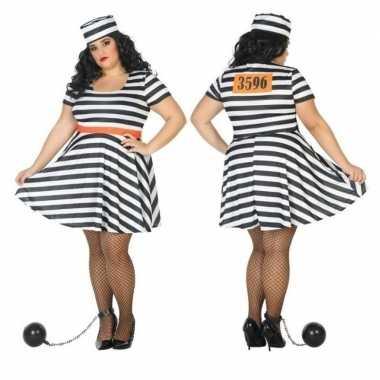 Grote maten scarnavalskleding boef/crimineel bonnie dames online