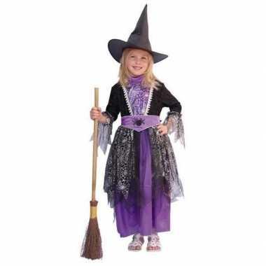 Heksen baby carnavalskledings zwart/paars online