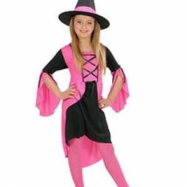 Heksen carnavalskleding meisjes roze online