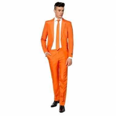 Heren carnavalskleding oranje stropdas online