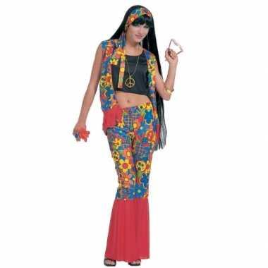 Hippie flower power carnavalskleding vrouwen online