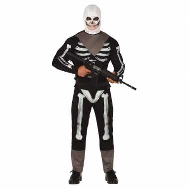 Horror skelet soldaat verkleed carnavalskleding heren online