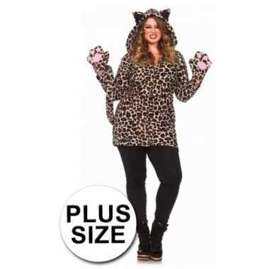 Leg avenue luipaard carnavalskleding grote maat online