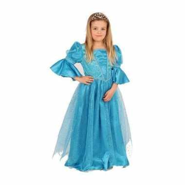Luxe blauwe prinsessen carnavalskleding online