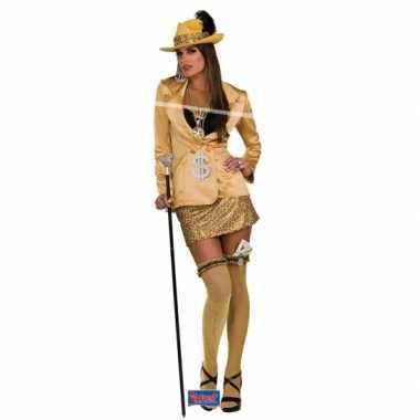 Madam carnavalskleding goud volwassenen online