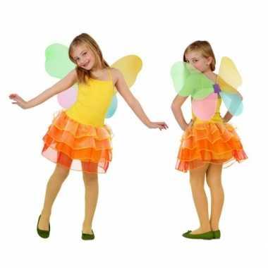 Meisjes vlinder carnavalskleding geel/oranje online
