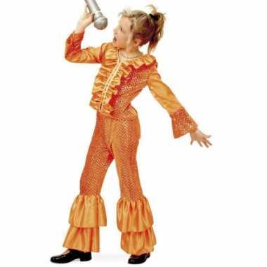 Oranje glitter carnavalskleding meisjes online