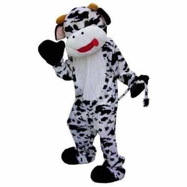 Pluche koeien carnavalskleding zwart wit online