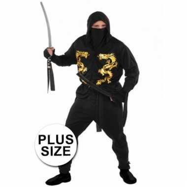 Plussize ninja carnavalskleding heren online