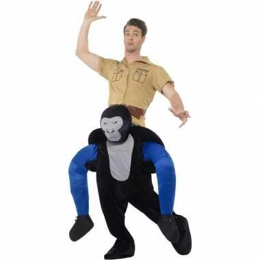 Ride on dierenpak carnavalskleding gorilla volwassenen online