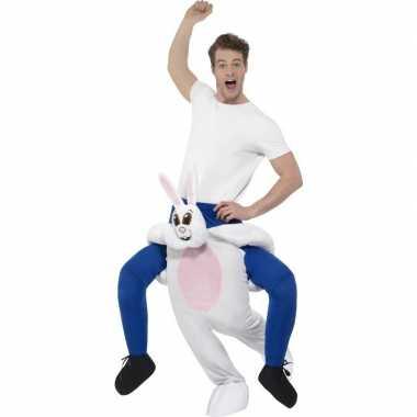 Ride on dierenpak carnavalskleding konijn volwassenen online