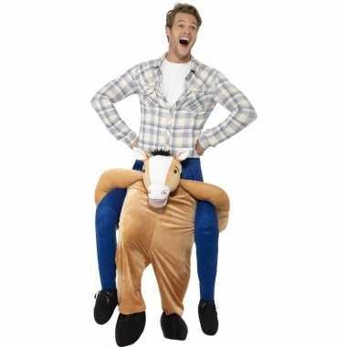 Ride on dierenpak carnavalskleding paard volwassenen online