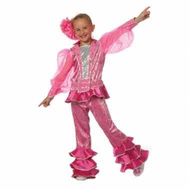 Roze disco carnavalskleding meiden online