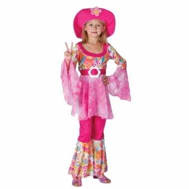 Roze hippie carnavalskleding meisjes online
