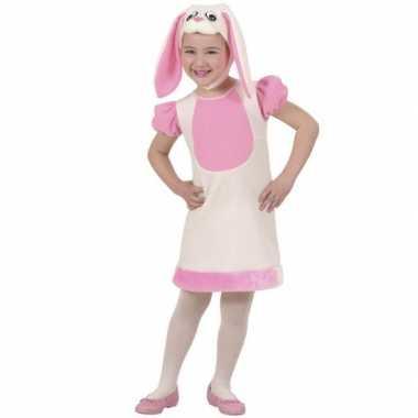 Roze konijn carnavalskleding meisjes online
