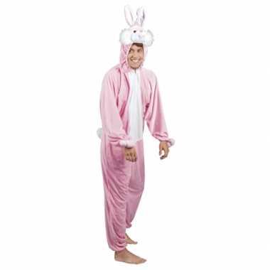 Roze konijnen/ hazen carnavalskleding heren online