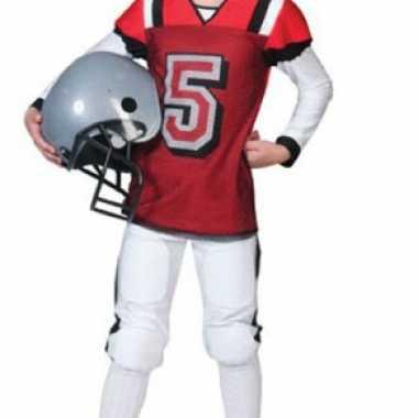 Rugby carnavalskleding rood wit kids online