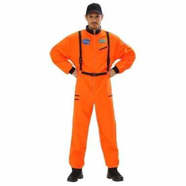 Ruimtevaart carnavalskleding oranje heren online
