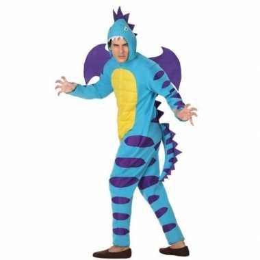 Scarnavalskleding blauwe draak volwassenen online