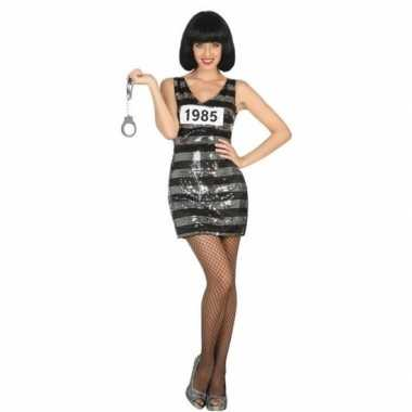 Scarnavalskleding boef/crimineel ann zwart/zilver dames online