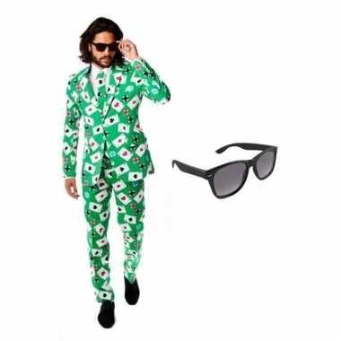 Scarnavalskleding groen heren pak (xl) gratis zonnebril online