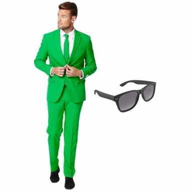 Scarnavalskleding groen heren pak (xxl) gratis zonnebril online