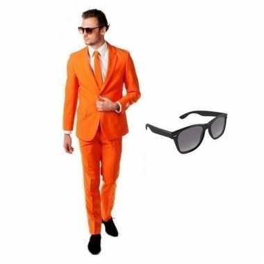 Scarnavalskleding oranje heren pak (xl) gratis zonnebril online
