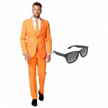 Scarnavalskleding oranje heren pak (xxxl) gratis zonnebril online