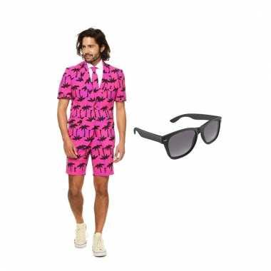 Scarnavalskleding palmbomen zomer heren pak (xl) gratis zonnebril on