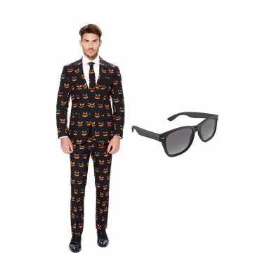 Scarnavalskleding pompoen heren pak (s) gratis zonnebril online