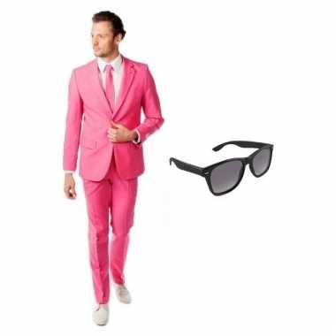 Scarnavalskleding roze heren pak (l) gratis zonnebril online