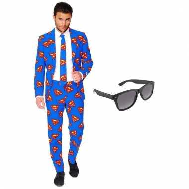 Scarnavalskleding superman heren pak (xxl) gratis zonnebril online