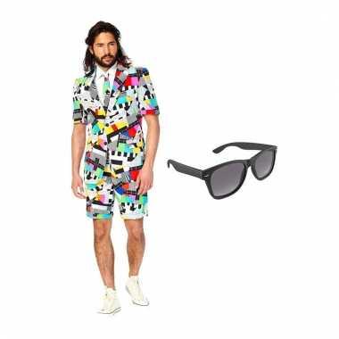 Scarnavalskleding testbeeld heren pak (m) gratis zonnebril online