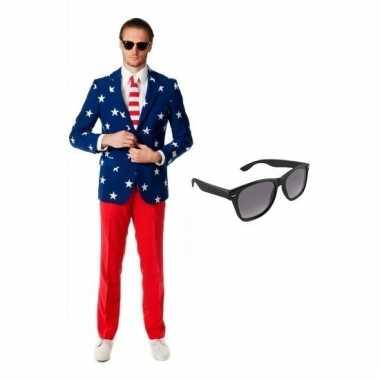 Scarnavalskleding usa heren pak (m) gratis zonnebril online