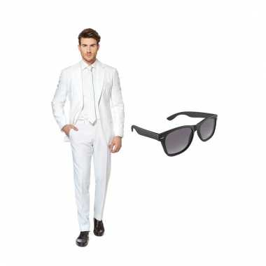 Scarnavalskleding wit heren pak (xxxl) gratis zonnebril online