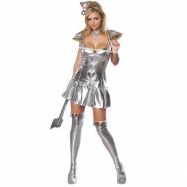 Sexy zilveren blikken vrouw carnavalskleding online