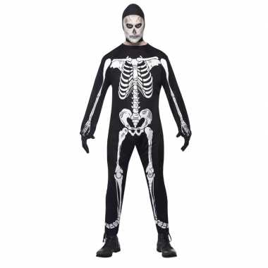 Skelet carnavalskleding zwart/wit volwassenen online