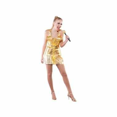 Supersterren carnavalskleding goud dames online